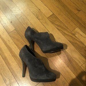 Suede Gray booties